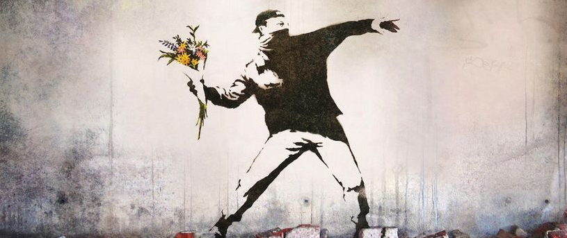 Banksy and his art for Banksy mural painted over